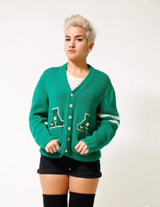 varsity style 1950s sweater
