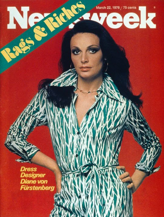 1970s DVF on cover of newsweek