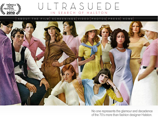 1970s fashion Halston ultraseude documentary