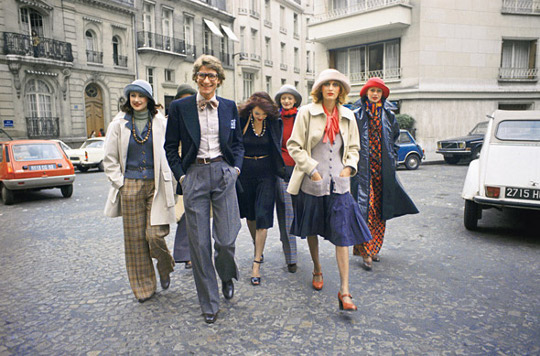1970s fashion YSL models