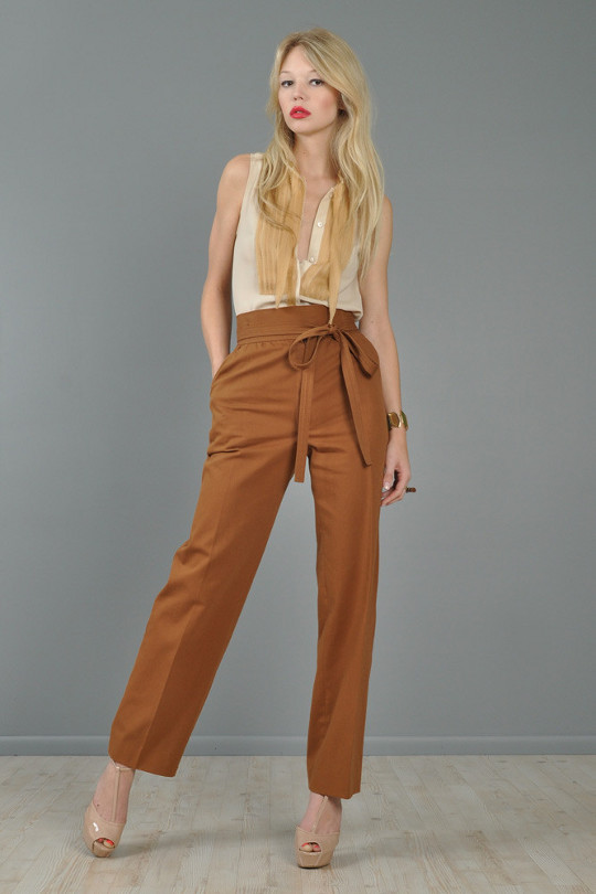 1970s fashion YSL pants
