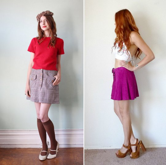 1970s fashion miniskirts