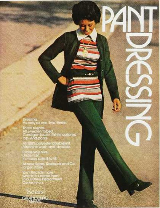 1970s fashion advertisement