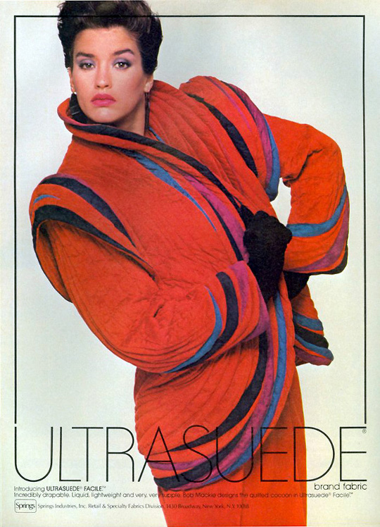 1970s fashion ultraseude ad