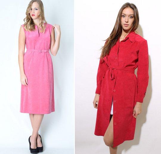 1970s fashion ultraseude dresses