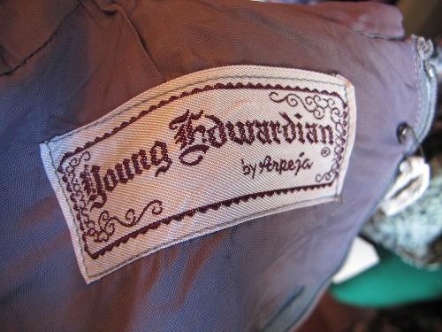 young edwardian designer vintage tag