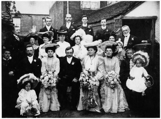 edwardian fashion wedding photo