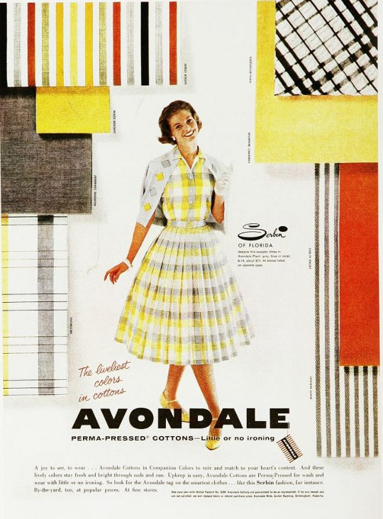 a vintage advertisement for avondale from the 1950s
