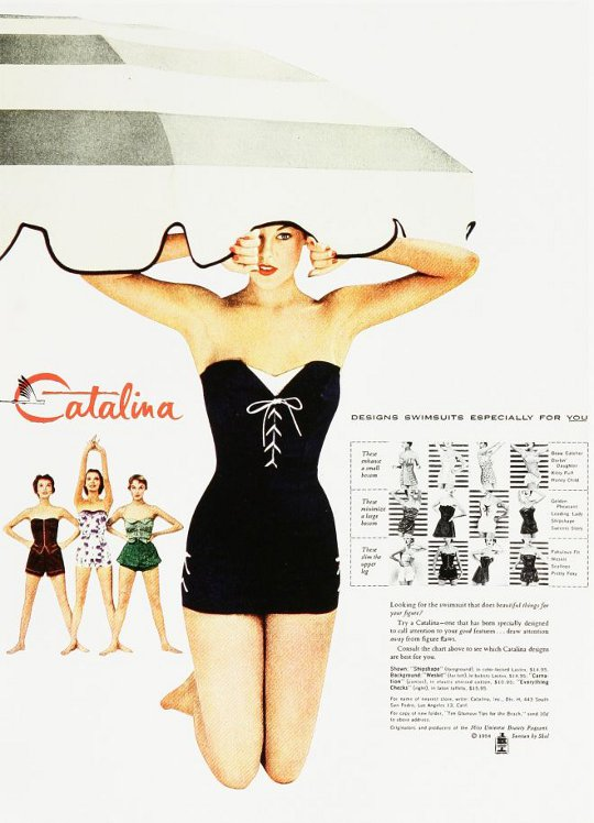 1950s pin up bathing suit ad