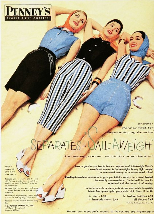 1950s fashion advertisement
