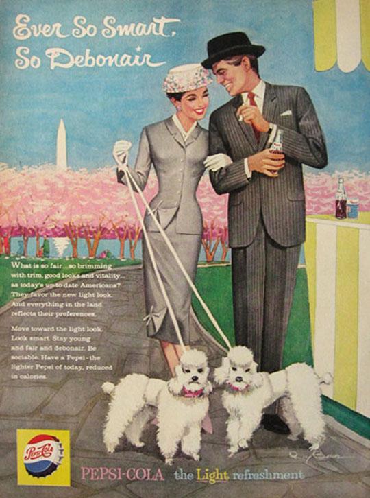 vintage poodle advertisement