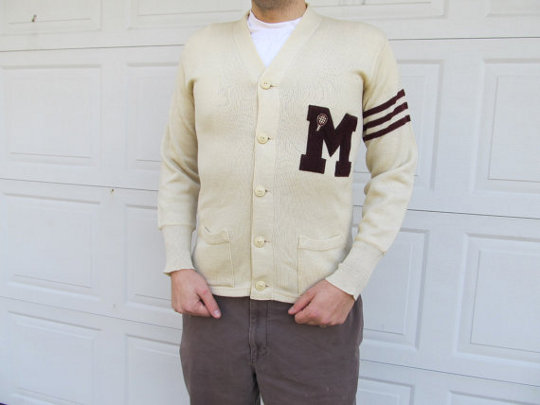vintage 1950s varsity sweater