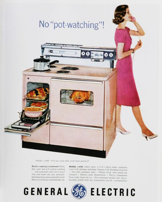vintage housewife advertisement for general electric