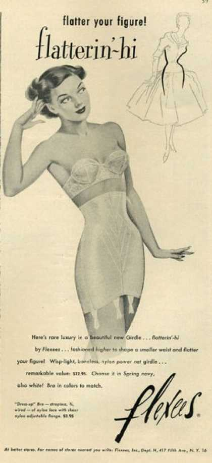 1950s girdle advertisement