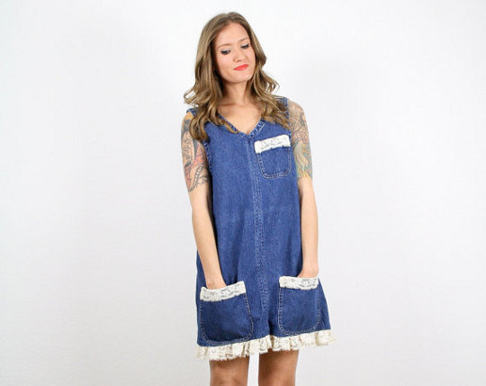 denim jumper by twitch vintage
