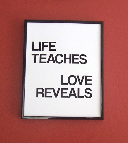 life teaches love reveals poster