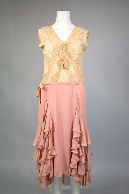 1920s tiered handkerchief hem dress vintage 171 sammy davis vintage