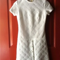1960s mod white dress
