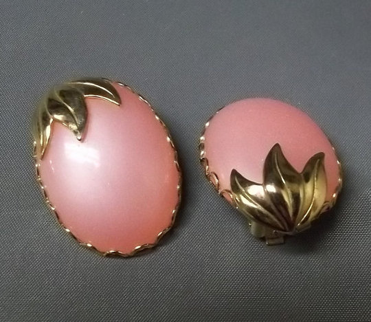 coro fruit clip on earrings