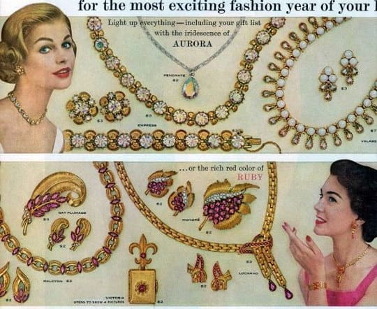 vintage costume jewelry ad