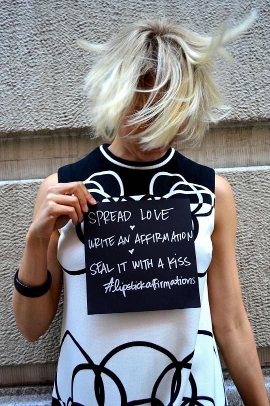 lipstick affirmations sign