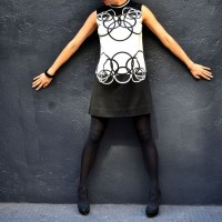 Black, White and My 1960s Mr. Dino Dress