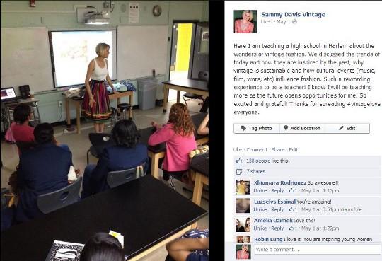 sammy davis vintage teaching high school