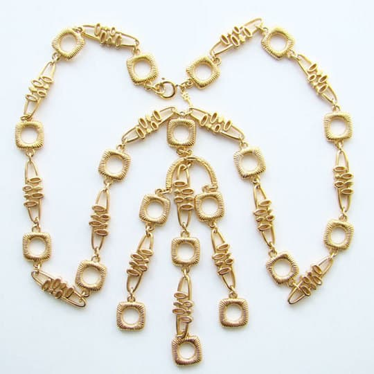 1970s gold necklace by trifari