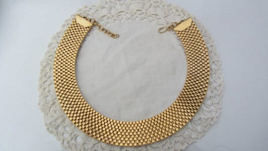 vintage costume jewelry necklace by monet