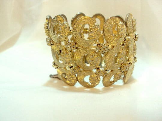 a vintage costume jewelry bracelet by monet