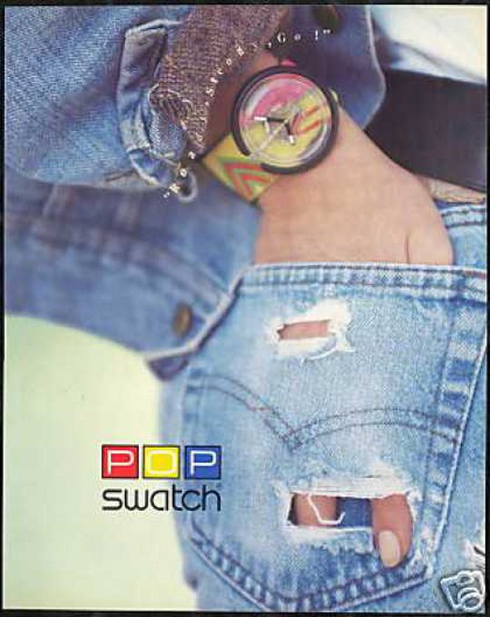 vintage swatch advertisement