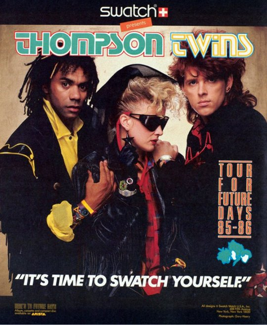 vintage swatch advertisment with thompson twins