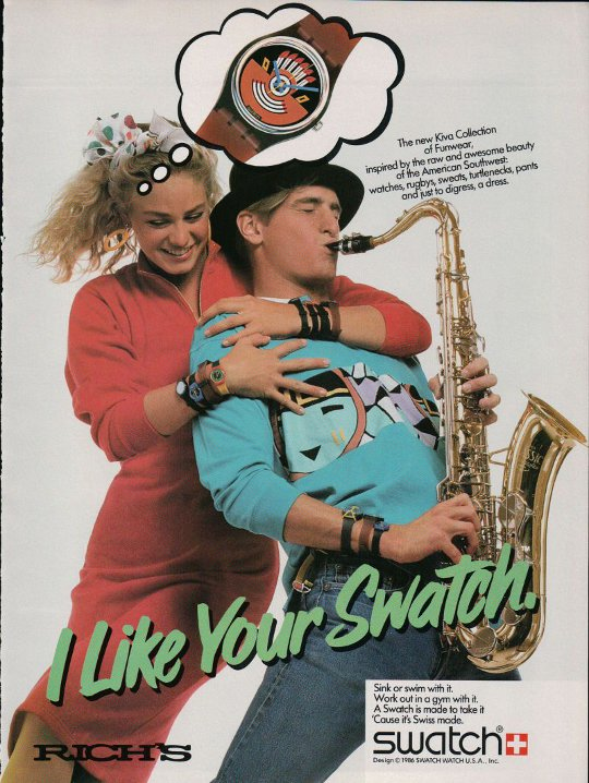 vintage swatch ad