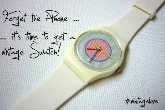 Put Down the Smartphone and Put on a Vintage Swatch