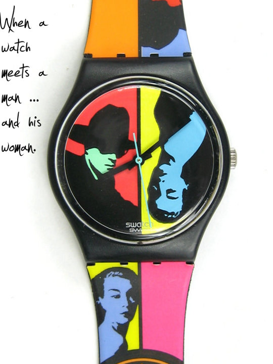 vintage swatch watch with faces