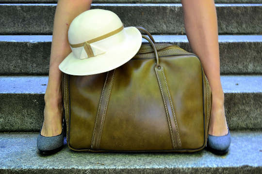 1960s leather bag from my darling vintage