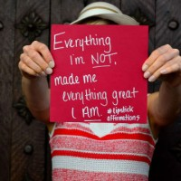 lipstick affirmation everything i'm not made me everything great i am