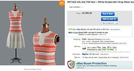 great lake outfitters 1960s dropwaist dress for sale on ebay
