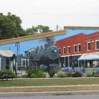 a street mural in mount victory ohio