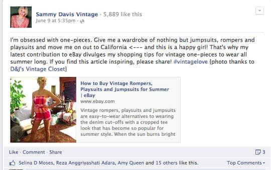 social media for vintage sellers