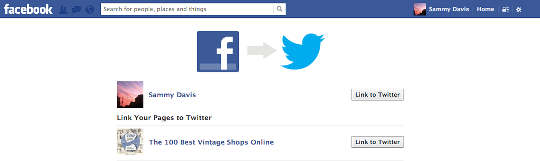 connect facebook to twitter