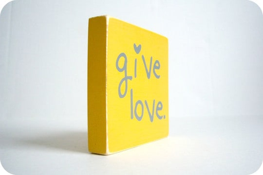 give love block from etsy