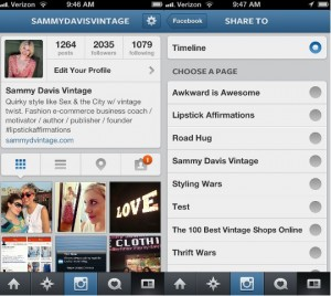 how to connect instagram to your facebook page