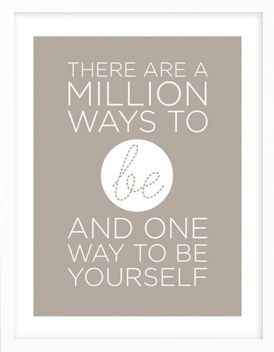 a million ways to be you poster on etsy