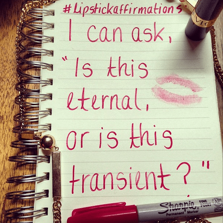 lipstick affirmation