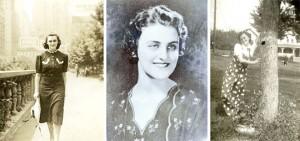 vintage fashion photo of fashion illustrator Hilda Glasgow