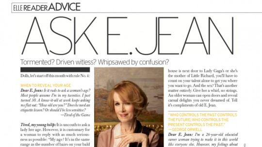 e.jean carroll column in elle magazine