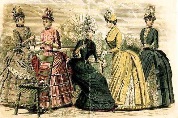 women wearing victorian dress in the late 1800s
