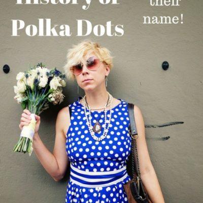 1980s Vintage Polka Dot Romper (Plus Brief Polka Dot History)