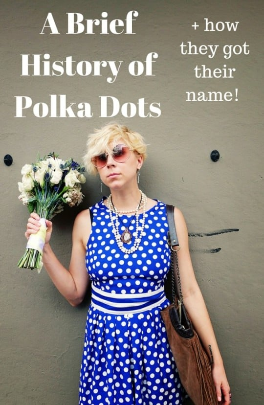 a brief history of polka dots on sammydvintage.com